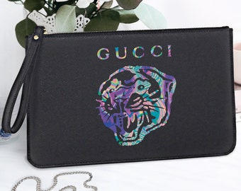 82ab46c924 Gucci tigre adolescent embrayage Sac Gucci Saffiano italien cuir femmes  Boutique shopping Sac Gucci maquillage pochette cosmétique fermeture éclair  pochette ...