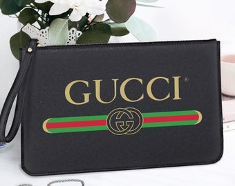 51ac1d0078c0 Women Clutch Bag Gucci Cosmetic Zipper Pouch Boutique Shopping Bag Gucci  Brand Saffiano Italian Leather Personalized Makeup Pouch FS0045