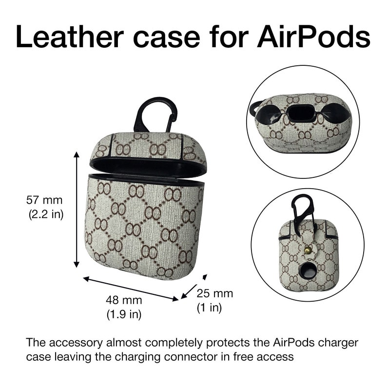 Fashion AirPods Case Girls Styled Case Teenagers AirPods Cover Headphones Case AirPods Stylish Leather AirPods Cover Protection Gift FS0176