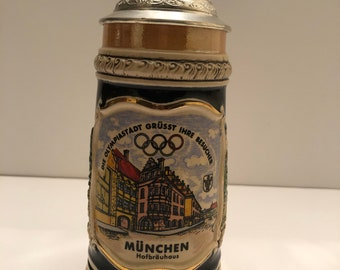Sports Memorabilia Provided Olympiad München 1972 Jug Tin Jar Lid Pewter Olympics Munich