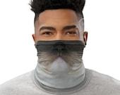 Ragdoll Cat Face Mask & Neck Gaiter, Washable Reusable Face Covering, Cat Mom Gift, Multi Purpose, Face Shield, Bandana, Neck Scarf, Unisex