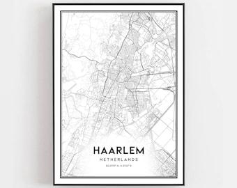 Haarlem map poster | Etsy