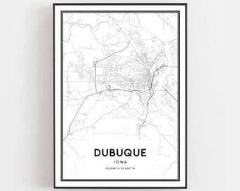 Dubuque ia poster | Etsy on
