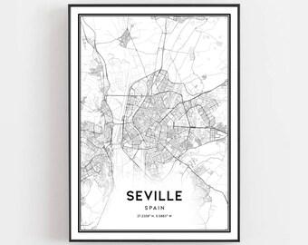 Seville map | Etsy