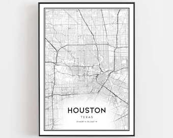 photograph about Printable Gold Card Application Harris County titled Houston map Etsy