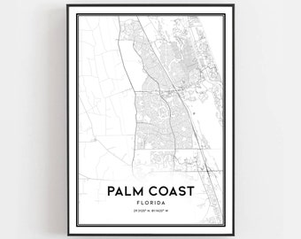 Palm coast florida | Etsy on town of palm coast florida, map of naples beach hotel, map of jacksonville beach, map of space coast florida, map of st. augustine beach, map of north east coast, map of palm coast fl area, weather palm coast florida, map of east coast beaches, map of northern california coast, palm springs florida, map of central california coast, palm beach florida, map of florida gulf coast,