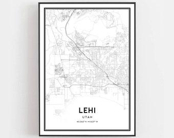 Lehi utah | Etsy Where Is Lehi Utah On The Map on