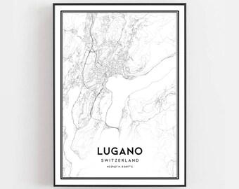 Lugano poster   Etsy