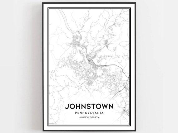 Of johnstown pa street map Walking Tour
