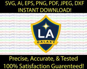 """LA Galaxy FC MLS USA Football Soccer Wall Decor Sticker Decal 20/""""X25/"""""""
