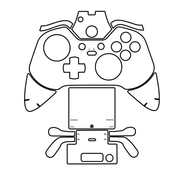 Xbox One Elite Controller Cut File Skin Template File Svg Etsy