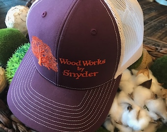 58b5665fdf32e Wood Works by Snyder Snapback Trucker Hat
