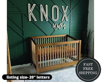 Stacked Custom name sign, wood name sign, nursery sign, nursery letters, children's decor, nursery decor, instant preview, girls room, boys