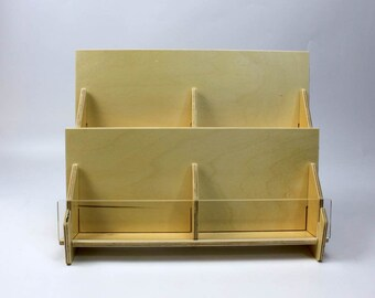60b79c09d43245 Berken triplex 2-Tier Counter Top Retail staander