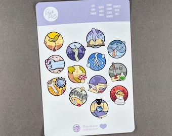 RolePins Sticker Sheets