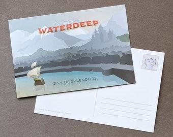 Greetings from Waterdeep Postcard