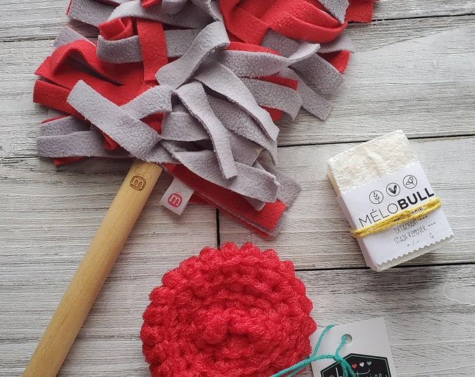 Kit ménage zéro déchet - Chat - Mayana - Mélo Bulle - La capitaine crochète