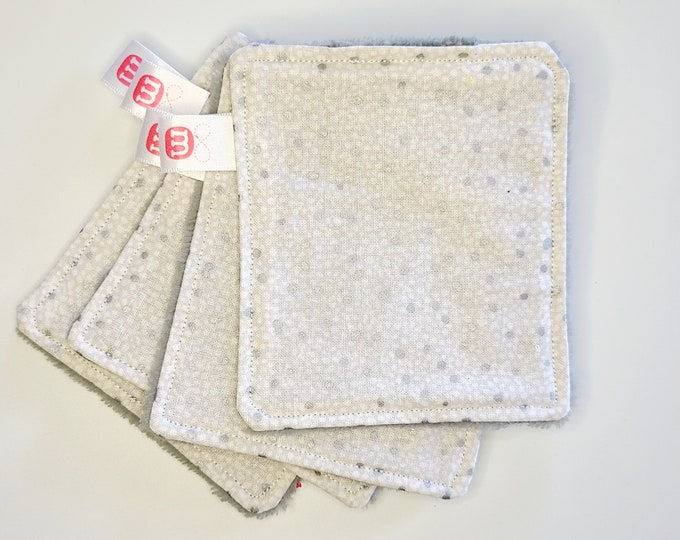Lot of 4 washable make-up remover wipes - Zero waste -