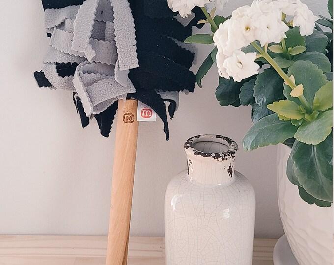 RECHARGE Grey and Black Washable Plumeau - reusable - eco-friendly - zero waste