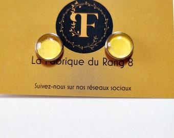 CABOCHON Glass Earrings - CUSTOMIZABLE - Gift Idea