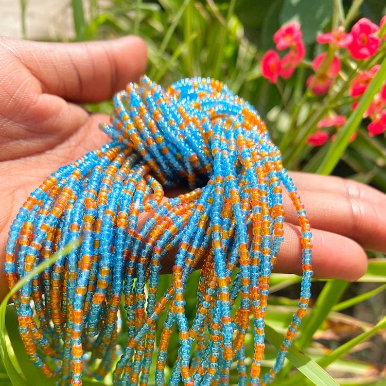 Skittle Waist Bead Turquoise Blue /& Orange AW 21