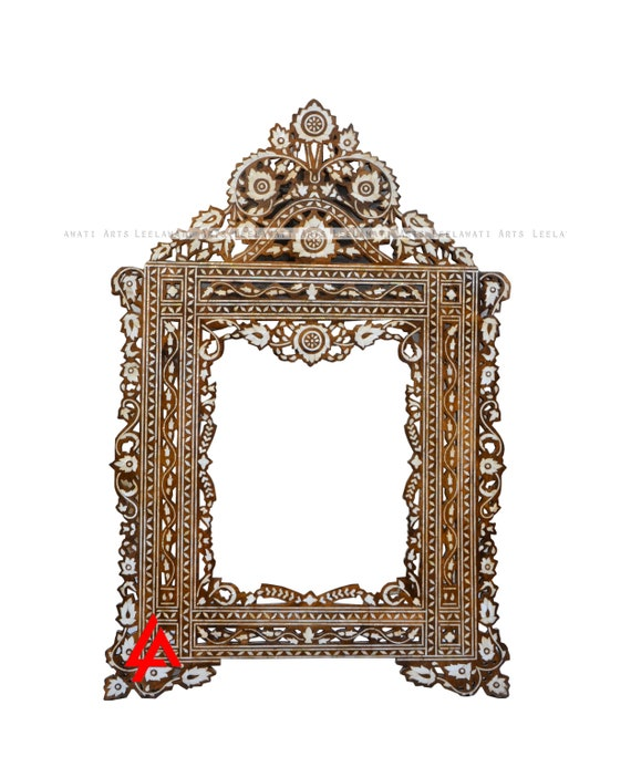 Indian Wood Mirror Frame Moroccan Style, Wood Mirror Frames Design
