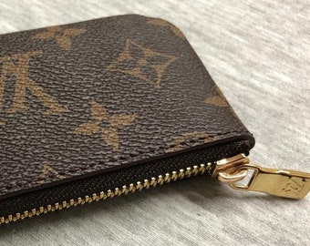6ca76aa91a63 Fine Crafted Handmade Louis Vuitton Inspired Genuine Leather KeyChain Purse  Wallet Business Card holder mini Coin Pouch Change bag w  zipper