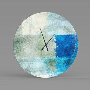 Metal Wall Clock Abstract Functional Art Modern Metal Art Etsy