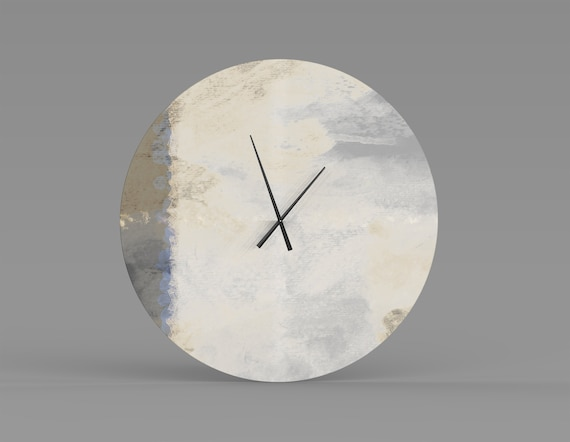 Nobhill Metal Wall Clock Oversized Abstract Fine Art Clock Etsy