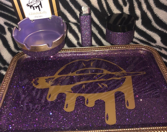 Glitty logo Rolling Tray