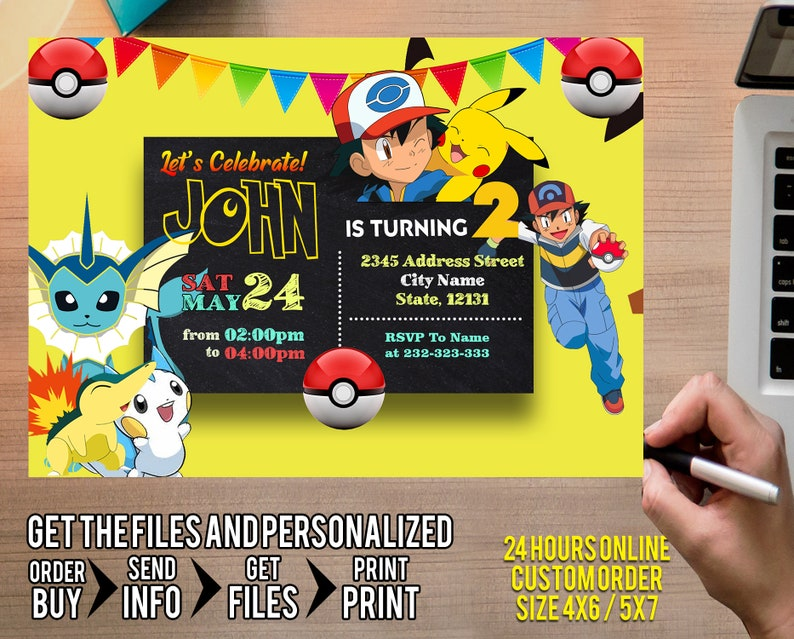 photograph about Printable Pokemon Birthday Invitations called Pokemon Invitation, Pokemon Boy Invitation, Pokemon Birthday Invitation, Pokemon Boy, Pokemon Invite Boy, Pokemon Printable, Pokemon Card