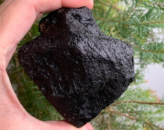 Stone of Shambala Akashic Ascension Alien Contact Starseed Bediasite Translucent Tektite Meteorite 14k Gold Plated Fae Leaf Pendant