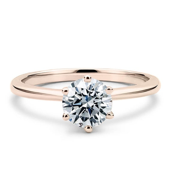 Lovely 1 Carat radiant Cut Full White Moissanite 10K14K18K WhiteYellowRose Gold 4 Prong Classic Solitaire Ring For Engagement,Wedding