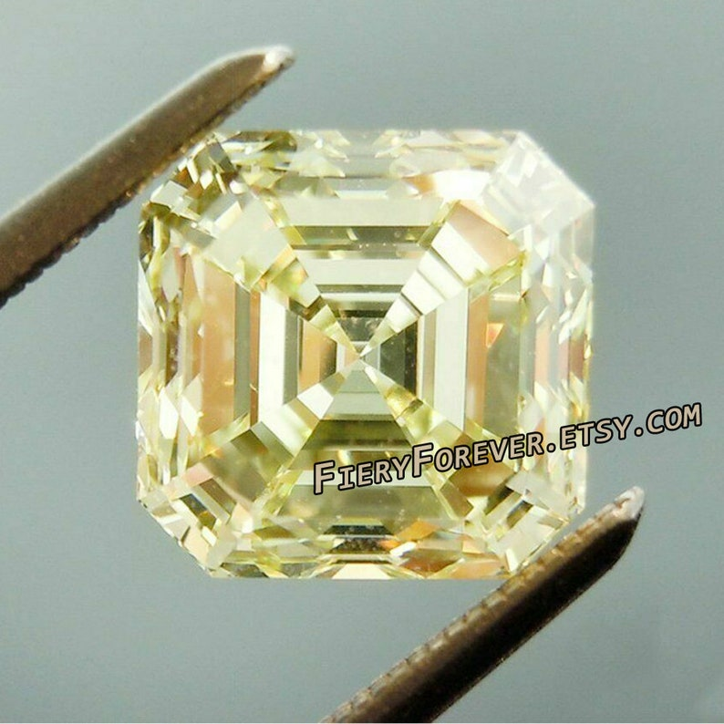Earring Wholesale Price Jewellery Gift Pendant 10.5 x 10.5 MM 5.50 Carat Off White Asscher Diamond Cut Loose Moissanite For Ring