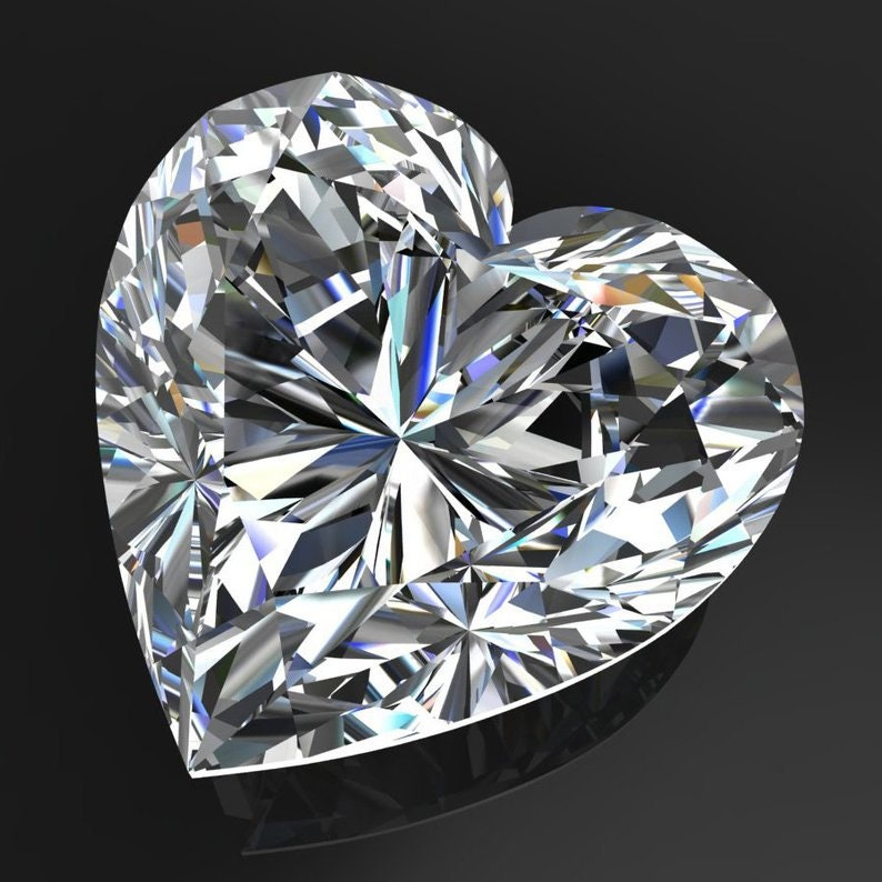 Wholesale Price Jewellery Gift Earring 7.5 x 7.5 MM 1.30 Carat Fiery full White Heart Diamond Cut Loose Moissanite 4 Ring Pendant