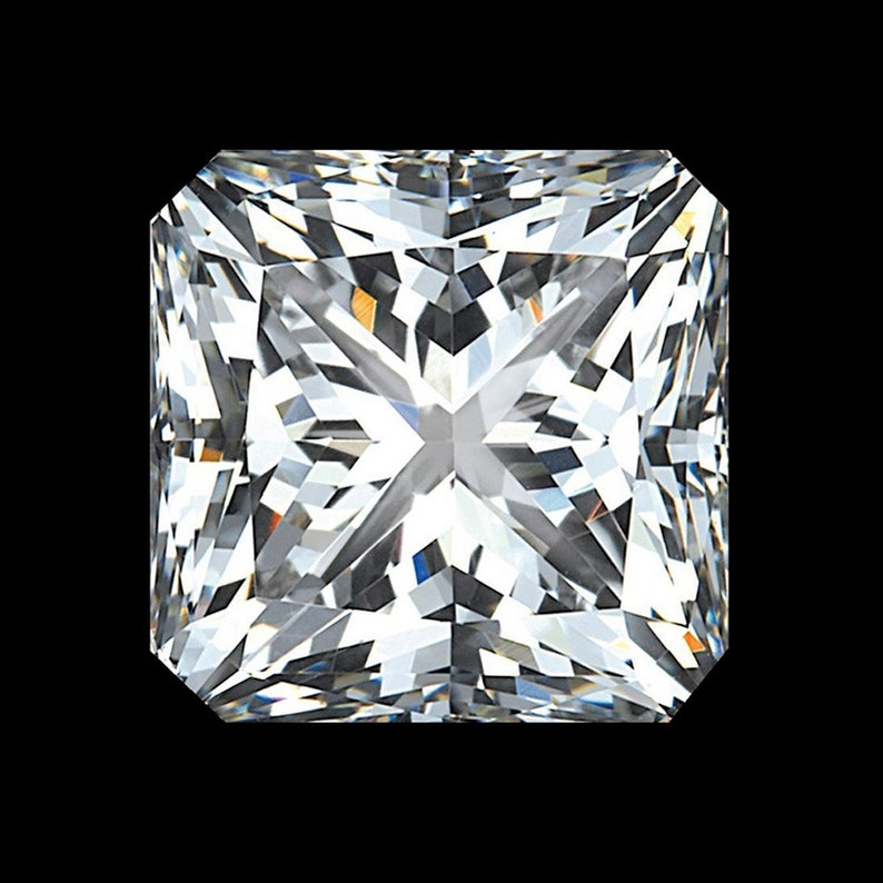 Wholesale Price 8 x 8 MM 2.50 Carat Fiery Full White Radiant Diamond Cut Loose Moissanite For Ring Pendant Jewellery Gift Earring