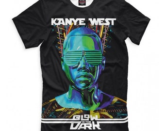 e2835f11a Kanye West Glow In The Dark T-shirt, Rap Hip Hop 3D Full Print Shirt, Men's  Women's All Sizes