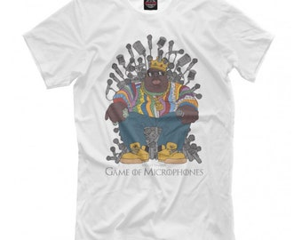e70d5e3a Notorious B.I.G. Game Of Microphones T-shirt, Biggie Smalls Rap Hip-Hop Tee,  Men's Women's All Sizes