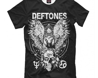 16a29621c Deftones T-shirt, Metal Rock Band Shirt, Men's Women's All Sizes