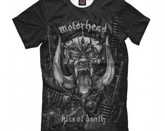 a63cce047 Motorhead T-shirt, Metal Rock Band 3D Full Print Shirt, Men's Women's All  Sizes