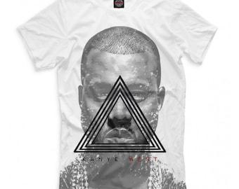e36ea8539 Kanye West T-shirt, Rap Hip Hop 3D Full Print Shirt, Men's Women's All Sizes