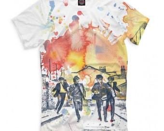 37765745 The Beatles T-shirt, Rock N' Roll Band 3D Full Print Shirt, Men's Women's  All Sizes