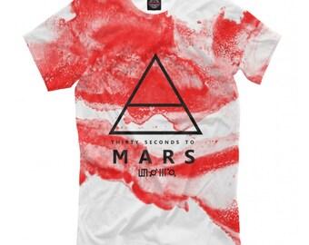 42814f0f 30 Seconds To Mars T-shirt, Rock Band Shirt, Men's Women's All Sizes