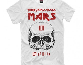 2cc07966 Thirty Seconds To Mars Graphic T-shirt, Rock Band Shirt, Men's Women's All  Sizes