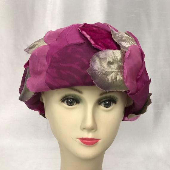 Vintage flower petal hat.