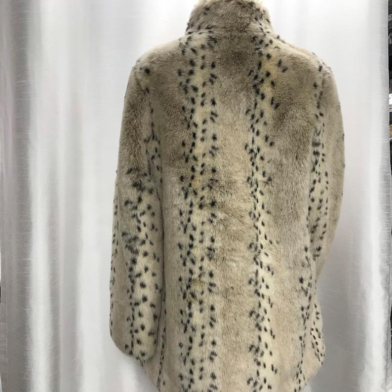 vintage short coat Vintage Women/'s synthetic fur coat
