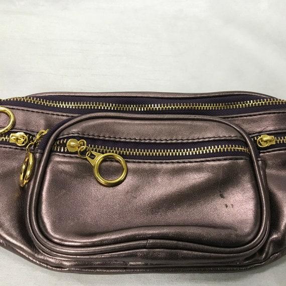 D'LISH vintage banana bag, pink banana bag/bronze