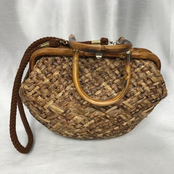 Simard & Voyer, straw handbag, handbag, shoulder s
