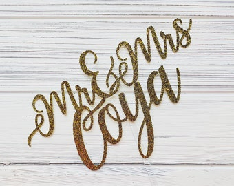 CUSTOM - Mr. and Mrs. Cake Topper // Personalized Wedding Cake Topper, Weddings, Personalized Mr & Mrs Name