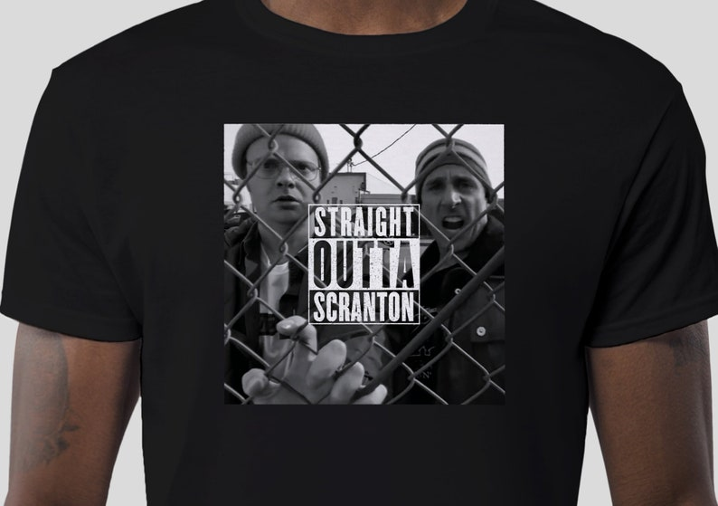 00a159eddd708 STRAIGHT OUTTA SCRANTON The Office Men's T-Shirt | Etsy